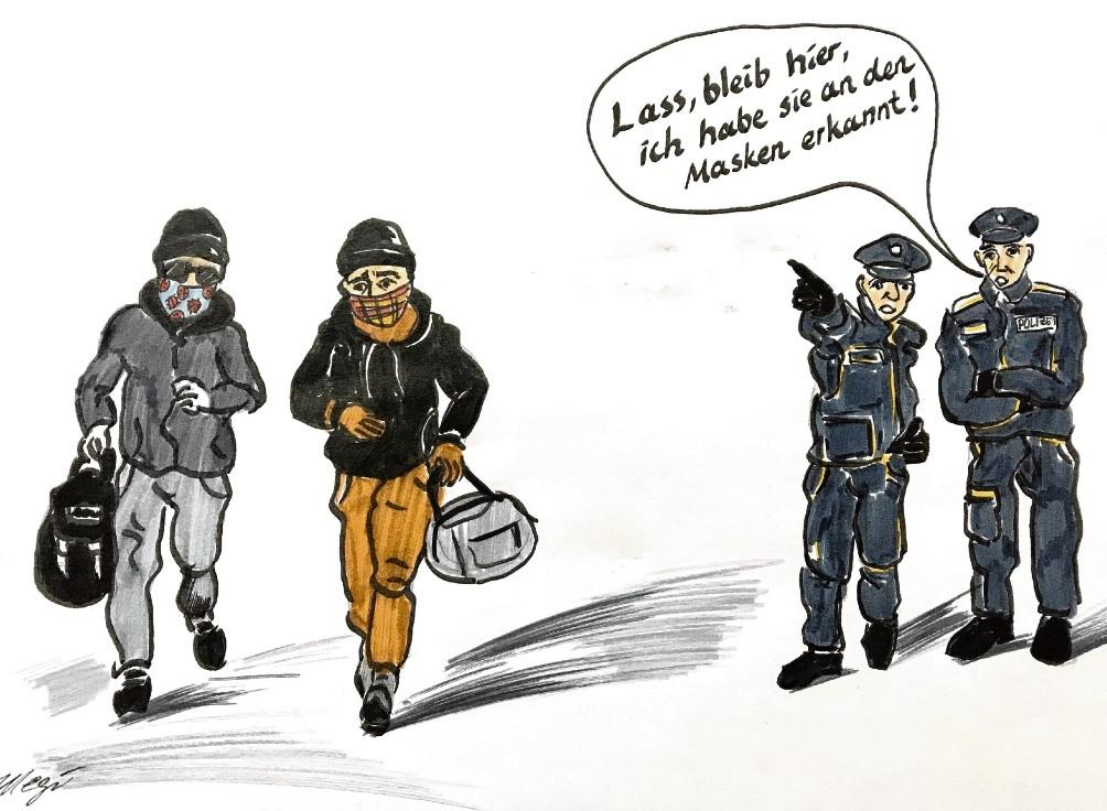 Mundschutz als Täterprofil...Megi Balzer
