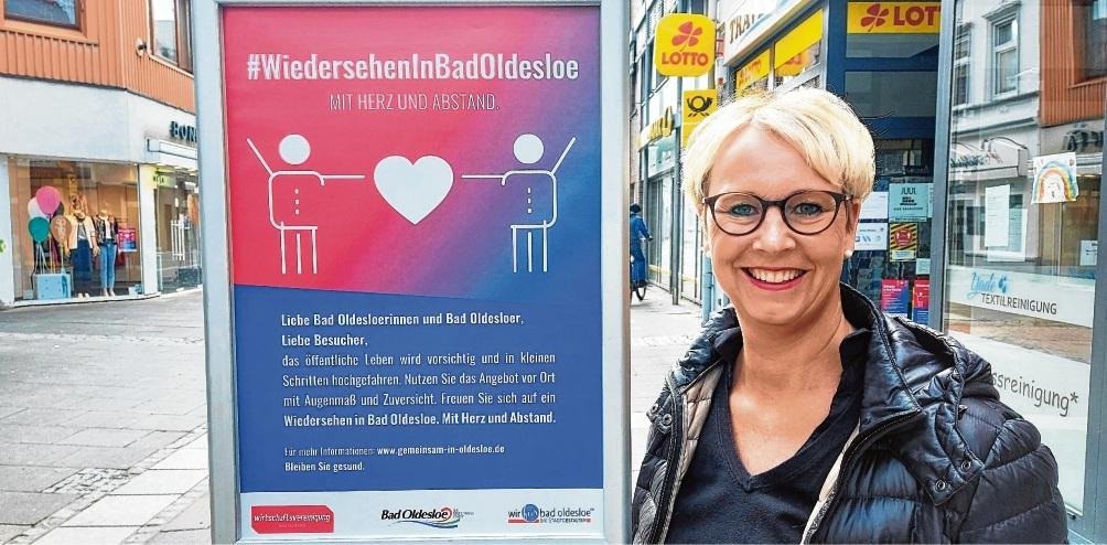 Kampagnenplakat: Nicole Brandstetter in der Innenstadt.Nie