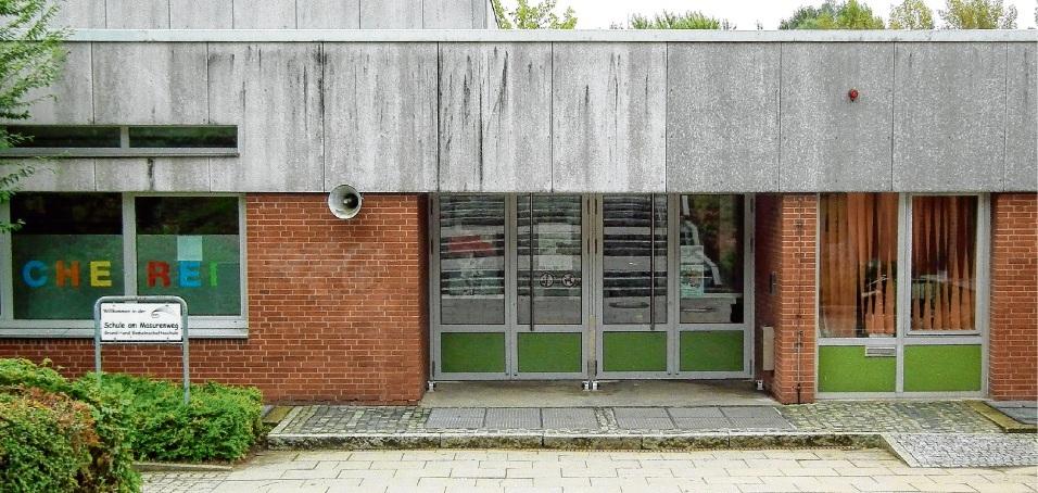 An der Grund- und Gemeinschaftsschule Am Masurenweg muss saniert werden.            gus