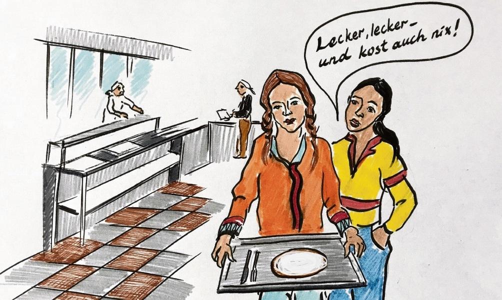 Prost Mahlzeit: Eltern zahlten nicht fürs Mittagessen.Megi Balzer