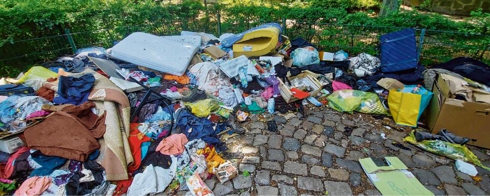 Die Müllansammlung am Exer nimmt stetig zu.Nie