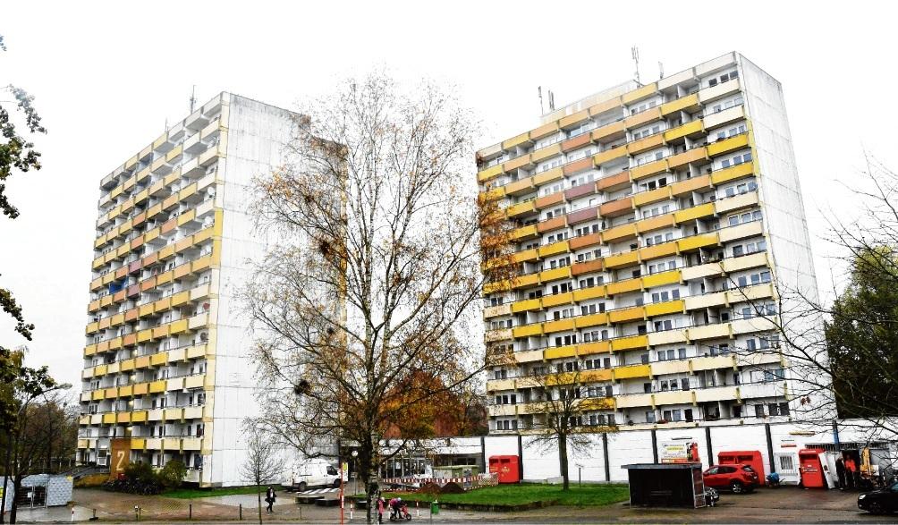 """Die """"Hölk-Hochhäuser"""" in Bad Oldesloe.Niemeier"""