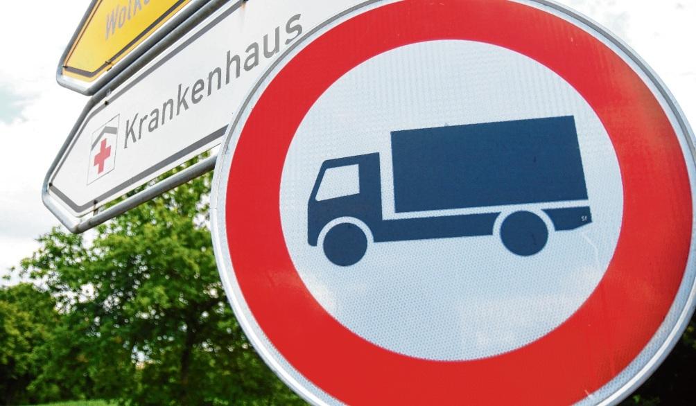 Am Krankenhaus gilt auch in Zukunft das Lkw-Verbot.nie