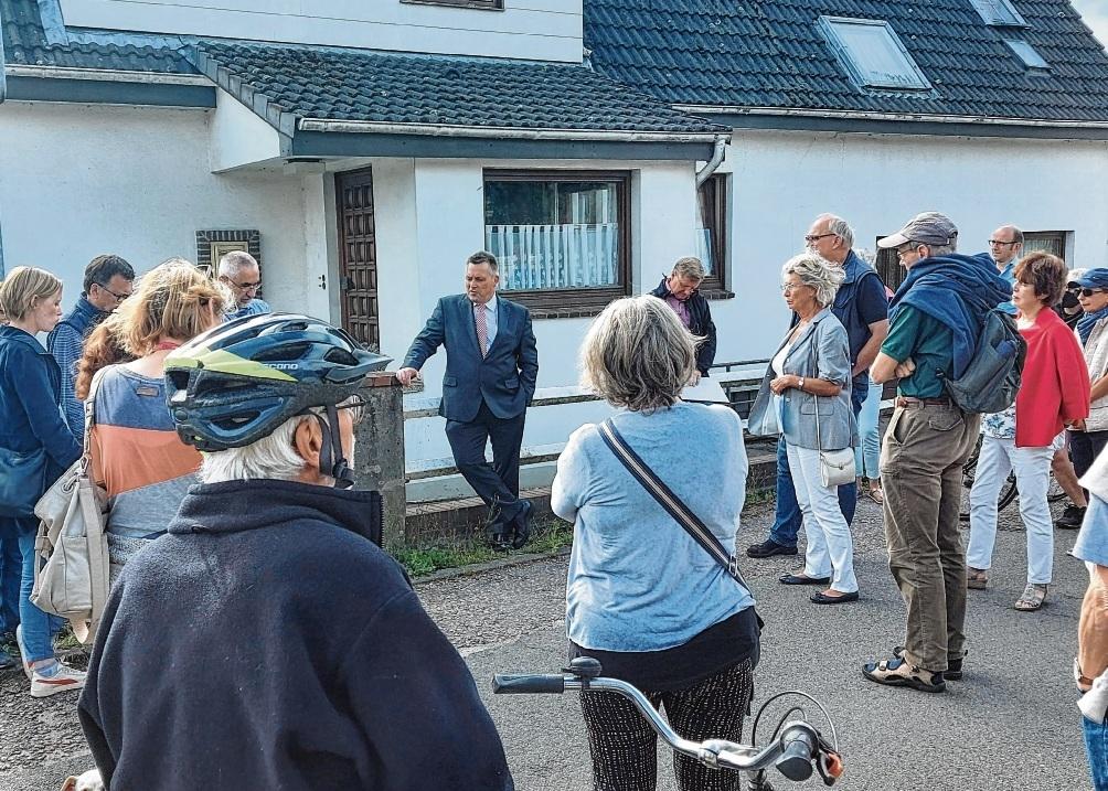 Der Bürgermeister im Kreuzfeuer von Ansprüchen, Erwartung und Kritik am Hohenkamp.Nie