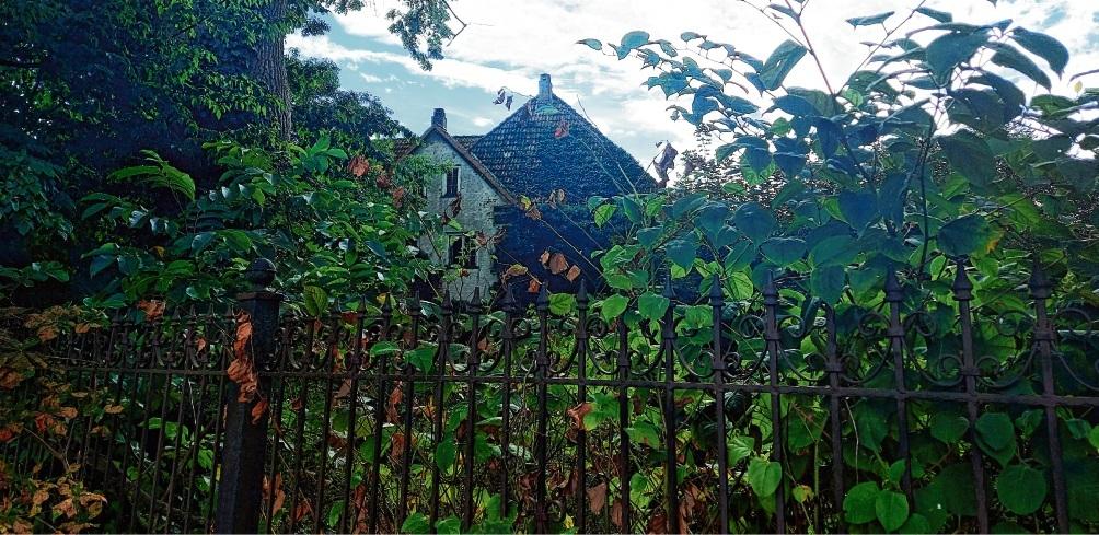 Das ehemalige Gutshaus ist mittlerweile hinter Büschen und Bäumen verschwunden. Vor Jahren konnte man sich bei einer Begehung noch einen besseren Eindruck machen, der Blicke in die Vergangenheit zuließ (kleine Fotos).  Niemeier