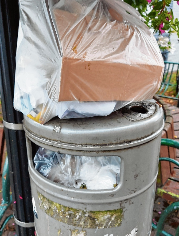 Um die grauen Mülleimer kümmert sich die Stadt selbst.