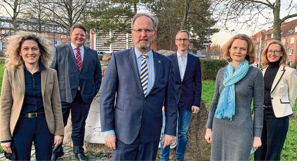 Der Vorstand der CDU-Kreistagsfraktion: Daniela Brunke (v.l.), Patrick Ziebke, Joachim Wagner, Maik Neubacher, Kirstin Krochmann, Bettina Spechtmeyer-Högel.  CDU Kreistagsfraktion