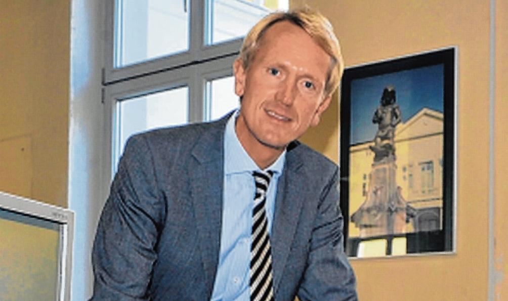 Malte Schaarmann in der Bad Oldesloer Stadtverwaltung.  Stormarner-Tageblatt-Archiv