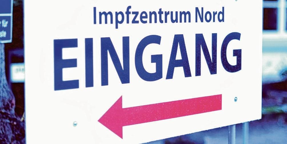Eingang des Impfzentrums Bad Oldesloe. Patrick Niemeier