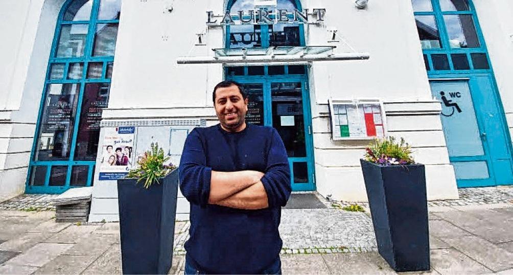 Alessio Zagari vor seinem Restaurant Laurent.  Patrick Niemeier