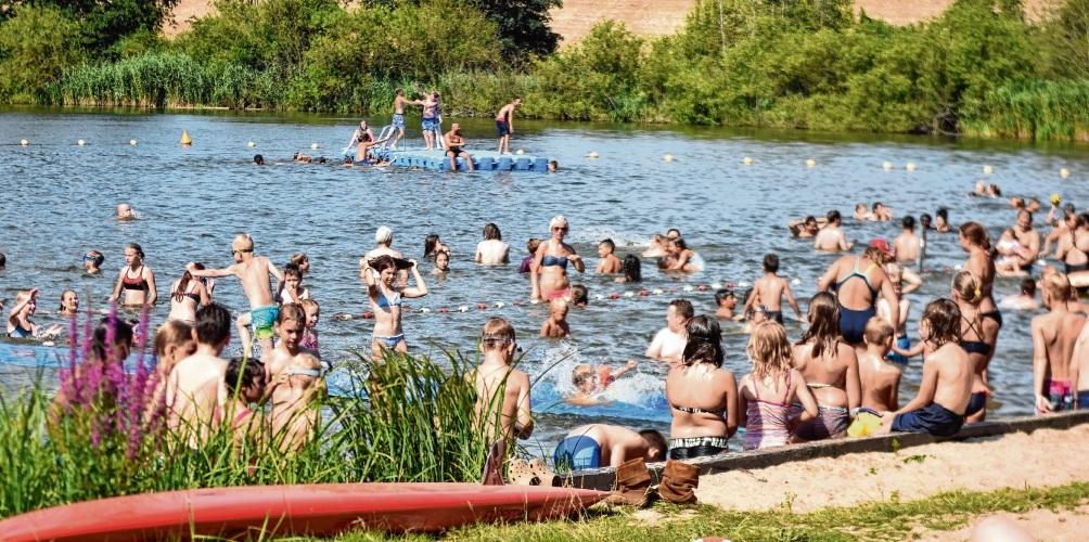Normalerweise ist im Sommer am Poggensee der Andrang bei gutem Wetter groß.  Niemeier