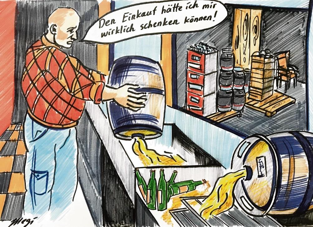 Nerviges Hin und Her in Corona-Zeiten.                               Karikatur: Megi Balzer