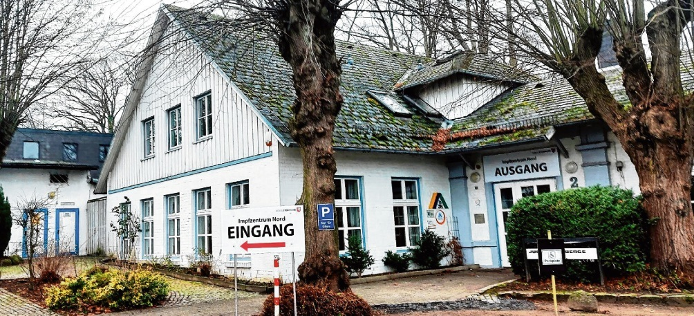 Das Bad Oldesloer Impfzentrum in der Jugendherberge am Konrad-Adenauer-Ring  Patrick Niemeier