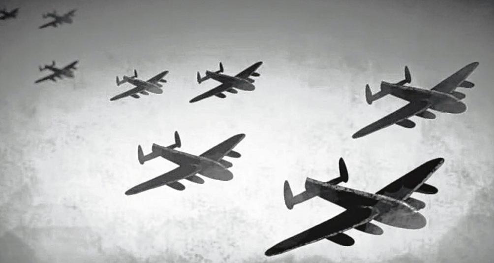 Am 24. April 1945 wurde Bad Oldesloe von den Alliierten angegriffen . Screenshot YouTube Stadt Bad Oldesloe