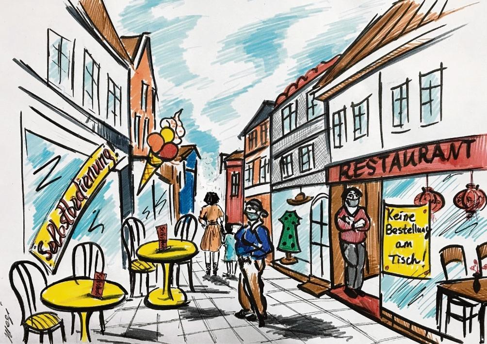 Personal-Notstand à la Stormarn.                                Karikatur: Megi Balzer