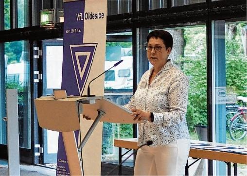 Gudrun Fandrey wurde als Vorsitzende des VfL Oldesloe wiedergewählt.  Finn Fischer