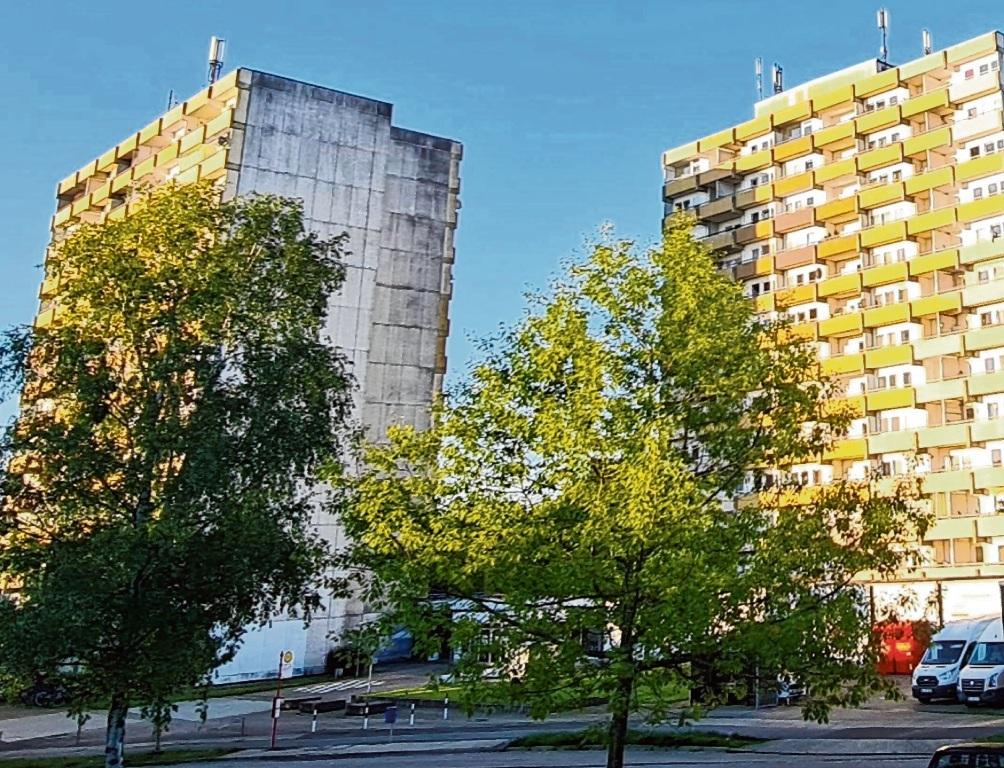 Die beiden Hochhäuser im Hölk und Poggenbreeden.  Patrick Niemeier