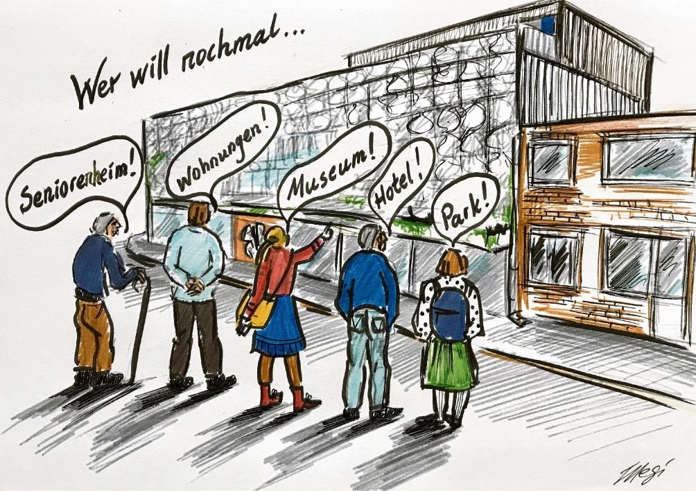Was Menschen wollen...                                     Karikatur: Megi Balzer