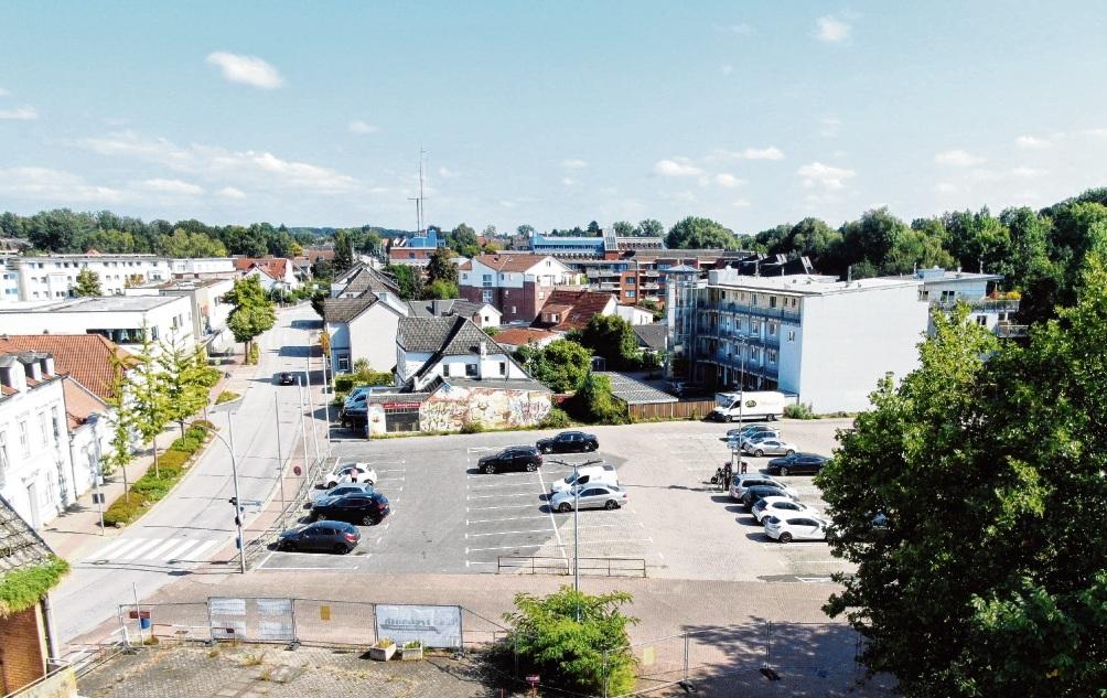 Auch der komplette Parkplatz kann überplant und neu gedacht werden.
