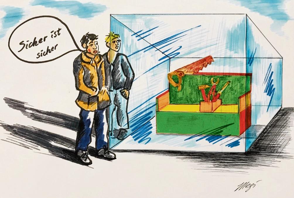 Karikatur Megi Balzer