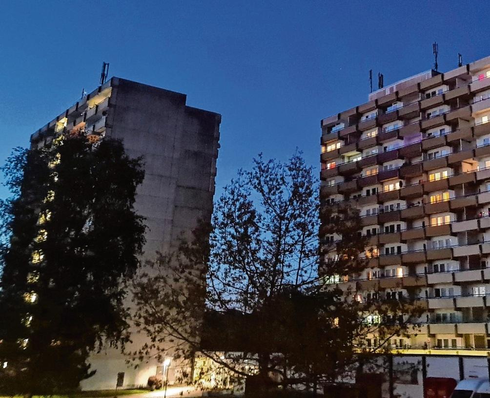 Die beiden Hochhäuser im Hölk und Poggenbreeden in Bad Oldesloe.  Patrick Niemeier