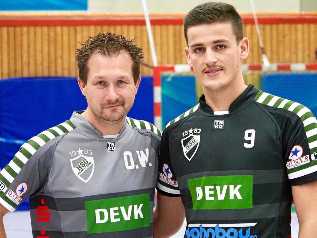 Verstärkung für Noch-Bezirksligist HSG Hallo und Trainer Oliver Wysk, wenn es in der nächsten Saison in der Landesliga um Punkte geht: Atdhe Basholli aus dem Kosovo.                                              <b>Dieter Meier</b>