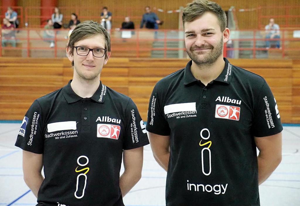 Schwere Aufgabe: Ellwanger (r.) und Co.  Wettemann.                                               <b>D, Meier</b>
