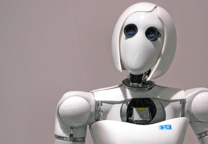Manche Maschinen können Fragen beantworten, so wie dieser Roboter in einem Museum in Berlin.
