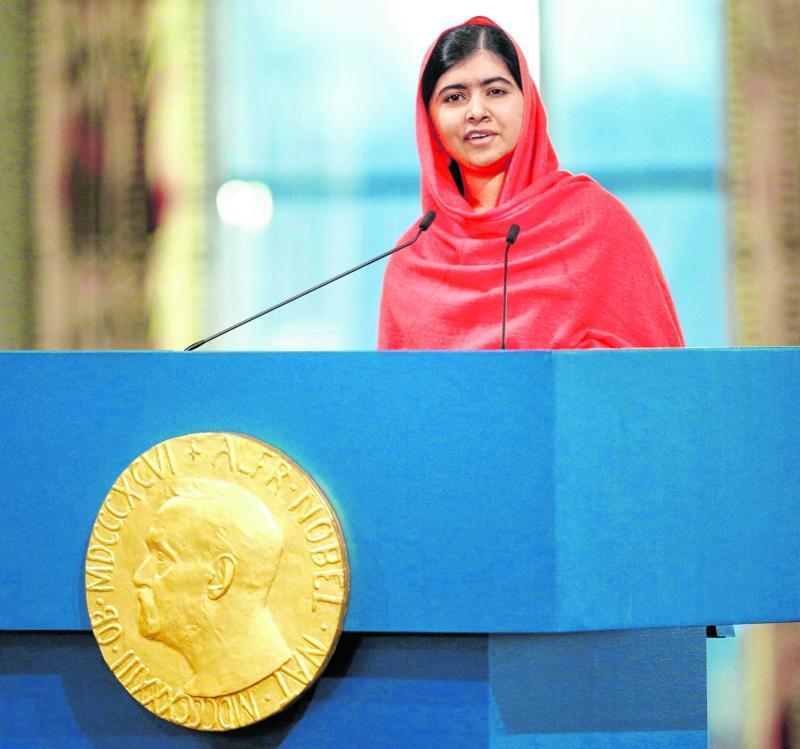 Das Mädchen Malala Yousafzai aus dem Land Pakistan war die jüngste Gewinnerin des Friedensnobel- preises.