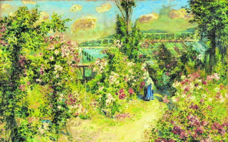 """""""Das Gewächshaus"""" nannte Pierre-Auguste Renoir dieses Gemälde. Es wurde um 1876 fertig."""