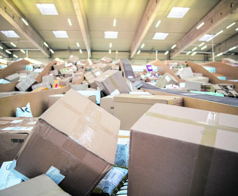 In der Corona-Krise sind sehr viele Pakete unterwegs.
