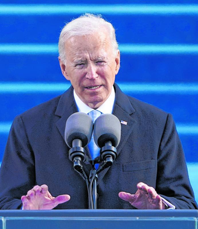 US-Präsident Joe Biden hält eine Rede bei seiner Amtseinführung.