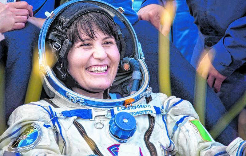 Samantha Cristoforetti aus Italien war die erste Frau aus Europa im All.