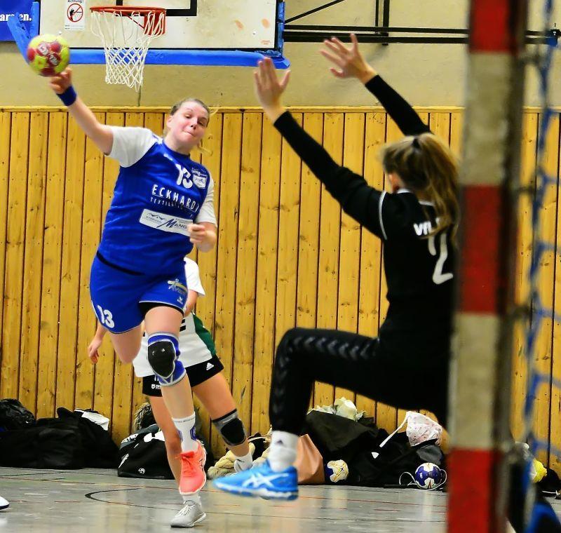 Überragend: Sabine Peek traf bei der jüngsten 24:28-Niederlage gegen den VfL Oldenburg III zehnmal für den ATSV Habenhausen. Foto: Nils Conrad