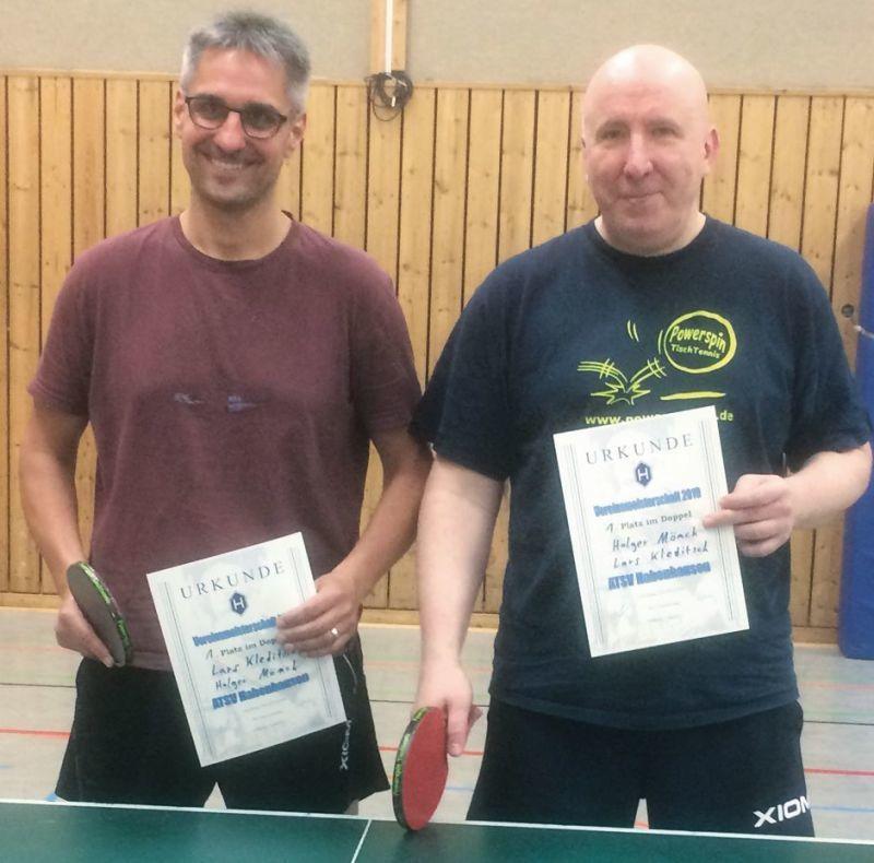 Lars Kleditsch und Holger Mönch holten sich den Vereinstitel. Foto: Heike Groneberg