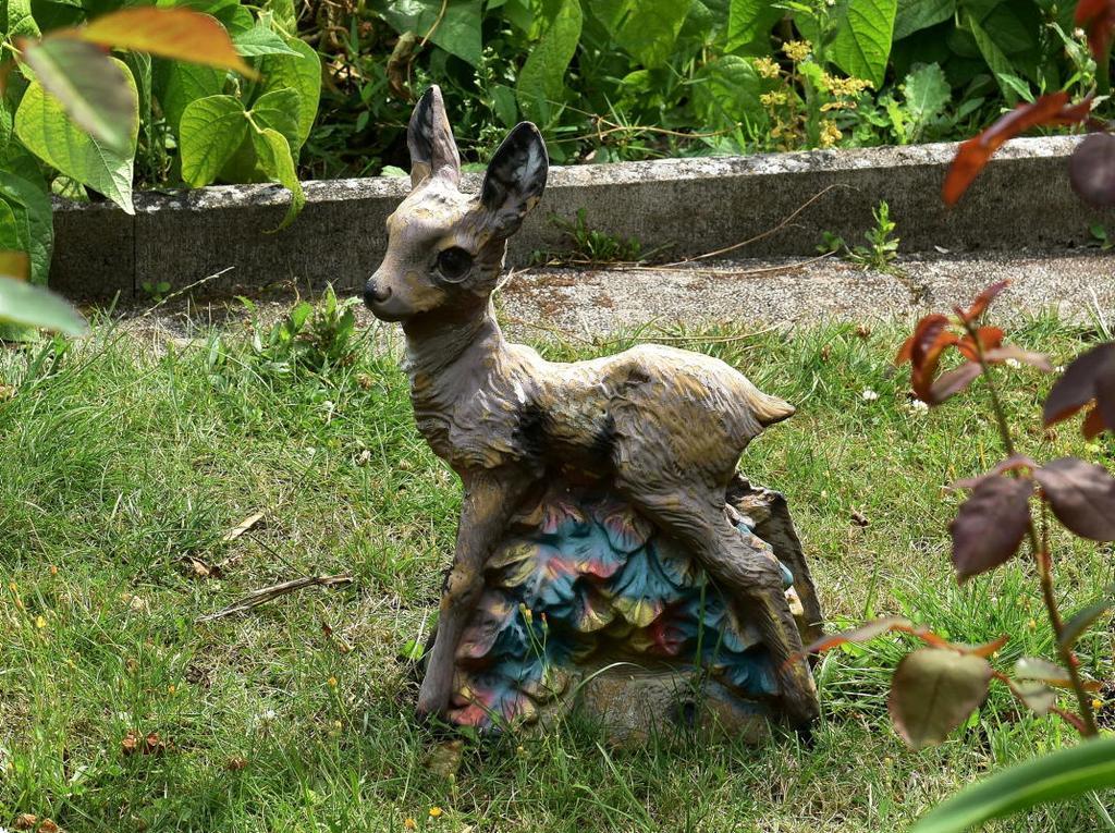 Tierisch ist diese Figur im Kleingartenverein Am Bohlweg.