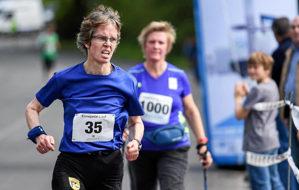 Bei den Langstrecken-Wettbewerben ist Birgit Beer-Gärtner (Milsper TV) eine stetig starke Konstante. Das stellt sie auch bei den Kreismeisterschaften unter Beweis – mit dem Titel über 5000 Meter.                                              <b>Marinko Prša / Archiv</b>