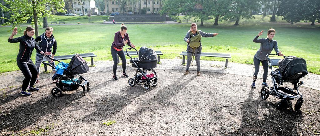 Zum Sport mit Kinderwagen, den die Milsper TV anbietet, sind Mütter, Väter, Omas oder auch Opas willkommen.                                              <b>Archiv/Volker Herold</b>