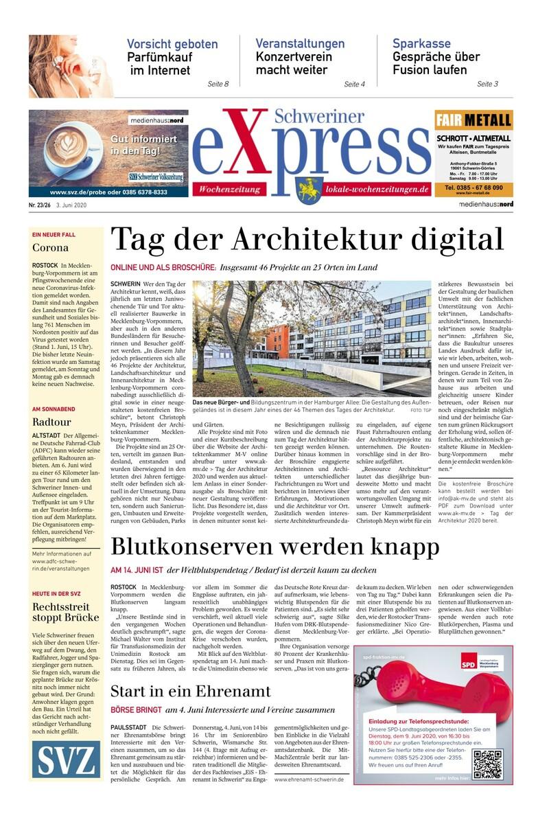 Schweriner Express Anzeigen